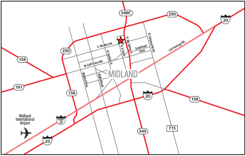 Click for a printable PDF of the Midland Map