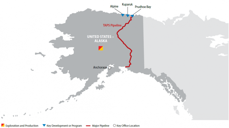 Prudhoe Bay Alaska Map.Alaska Conocophillips