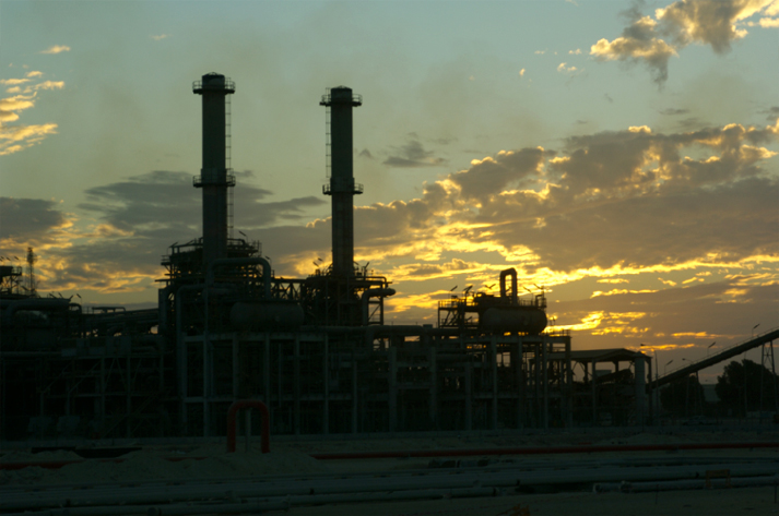 Qatargas at Sunset