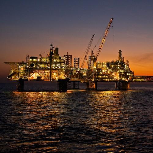 Bayu-Undan Gas production facilities in the Timor Sea.