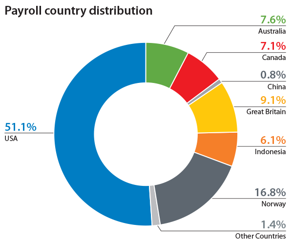 Payroll Country Distribution graph