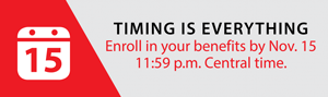 Enroll by Nov. 15th