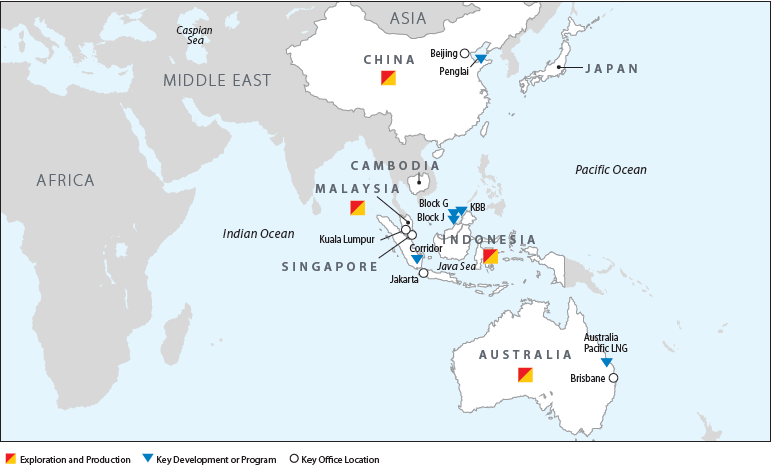 Map of our Asia Pacific operations