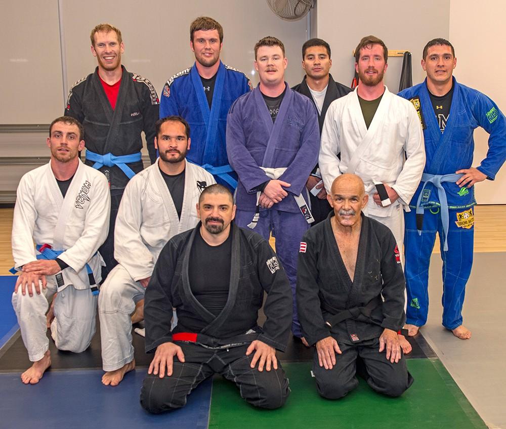 group photo of ten men