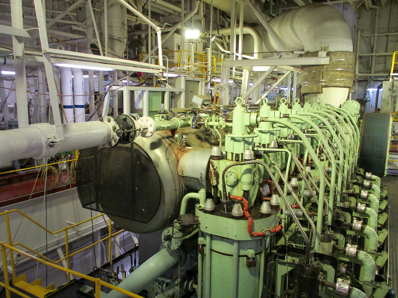 rows of pipes and machinery