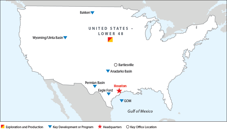 Lower 48 Map of Operations