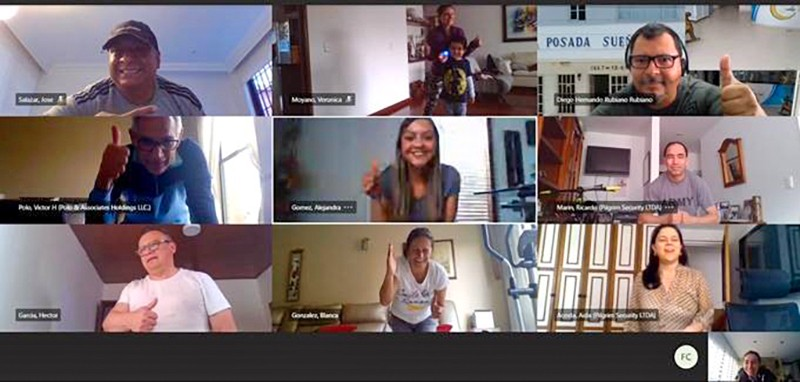 Screen shot of Colombia Team's virtual meeting
