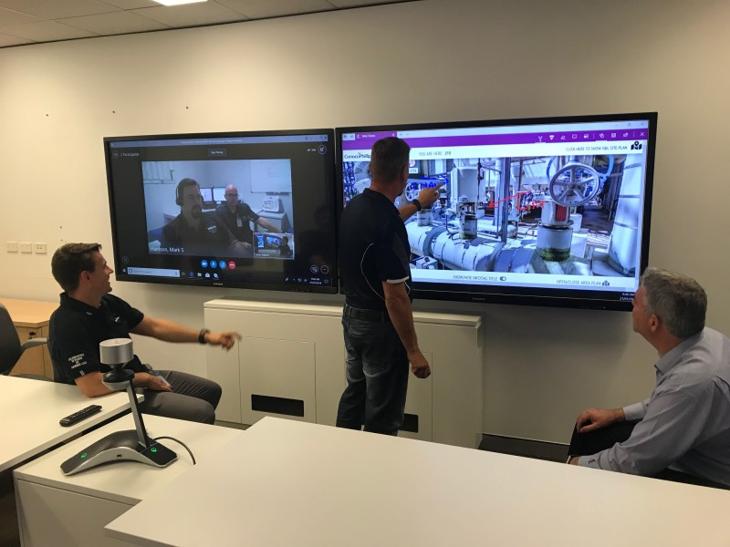 Collaboration in action – Perth and Darwin staff using Virtual DLNG