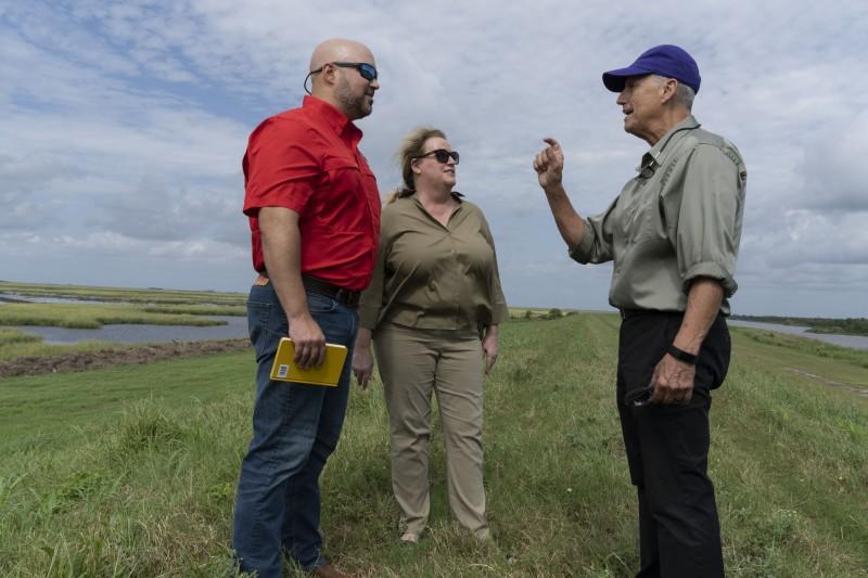 Coastal Wetlands Director John Harrington discusses the project