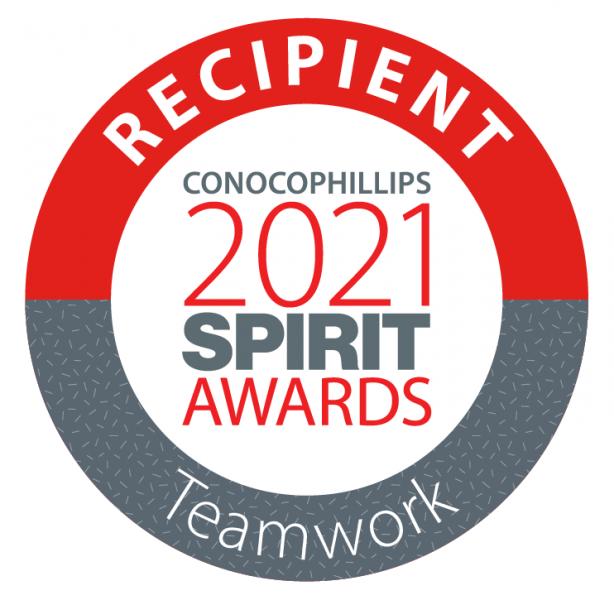 Graphic: Recipient ConocoPhillips 2021 SPIRIT Awards - Teamwork
