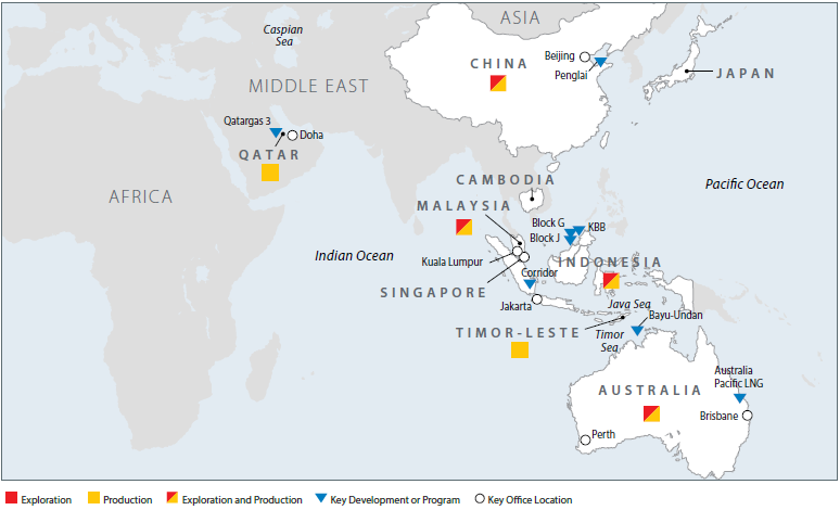 Map of our Asia Pacific & Middle East operations