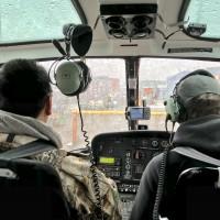 直升机在阿拉斯加