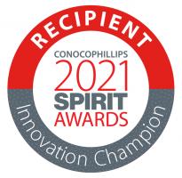 Graphic: Recipient ConocoPhillips 2021 SPIRIT Awards - Innovation Champion