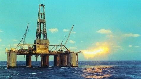 offshore platform in ocean